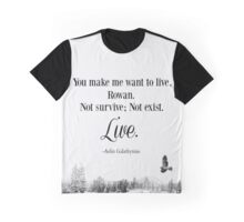 Queen of Shadows by Sarah J Maas Quote Graphic T-Shirt