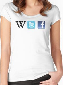 WTF Social & Web Women's Fitted Scoop T-Shirt