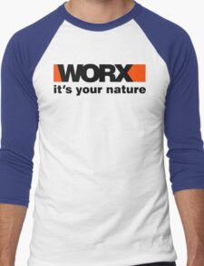 Worx Tools Its Your Nature Men's Baseball ¾ T-Shirt