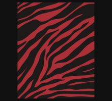 red  zebra  Kids Tee