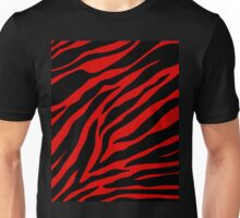 red  zebra  Unisex T-Shirt