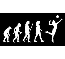 Volleyball Womens Evolution Silhouette Photographic Print