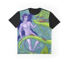 Fairy and Dragon Graphic T-Shirt
