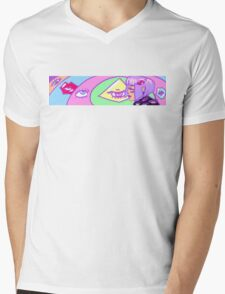 Big eyes and weird as heck Mens V-Neck T-Shirt