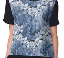 Kerry Blue Collage  Chiffon Top