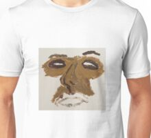 Abstract Face Print Unisex T-Shirt