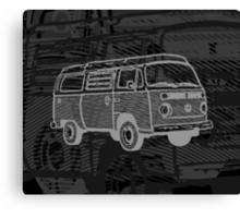 Black Silver Bay Campervan Dub-U King Size Duvet (please see description), Pillow and Tote  Canvas Print