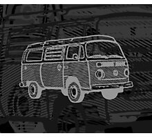 Black Silver Bay Campervan Dub-U (please see description) Photographic Print