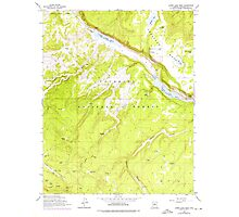 USGS TOPO Map Arizona AZ Lower Lake Mary 312174 1962 24000 Photographic Print