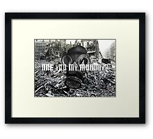 Doctor Who - Are You My Mummy? Framed Print