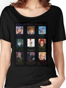 Kingdom Hearts Alignment Chart Women's Relaxed Fit T-Shirt