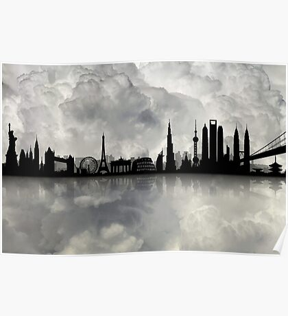 The Best city skyline Poster