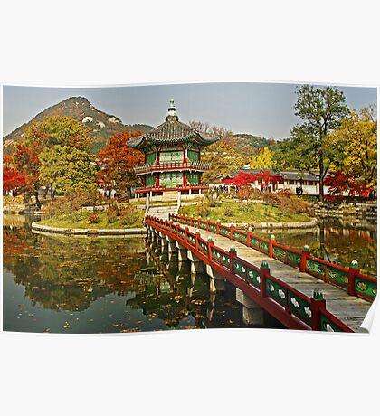 Footbridge to Hyangwonjeong Pavilion Poster