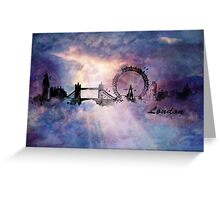 City skyline - London Greeting Card