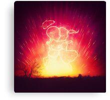 Cosmo + Celeste ( Colorful Cosmological Night Sky Couple in Love ) Canvas Print