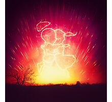 Cosmo + Celeste ( Colorful Cosmological Night Sky Couple in Love ) Photographic Print