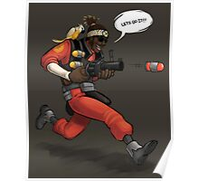 Team Fortress 2 Lets Do It Demoman Poster Poster