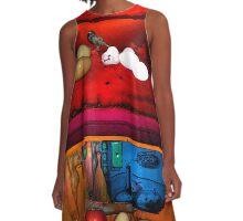 Rothko Refrigerator Squared A-Line Dress