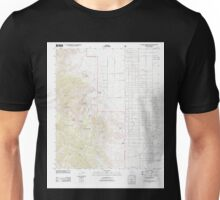 USGS TOPO Map Arizona AZ Cochise Stronghold 20120508 TM Unisex T-Shirt