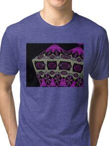 Textured daisy chains Tri-blend T-Shirt