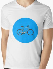Bicycle Power Mens V-Neck T-Shirt