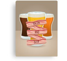 Bacon and Beer Canvas Print
