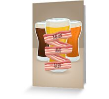 Bacon and Beer Greeting Card