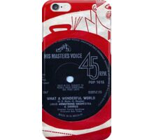His Masters Voice   Louis Armstrong  iPhone Case/Skin