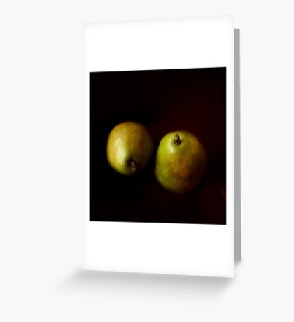 A Green Pair Greeting Card