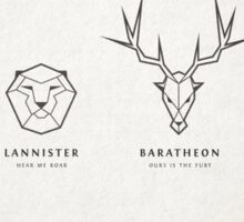 Game Of Thrones house banners Sticker