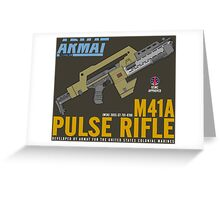 Aliens M41A Pulse RIfle Greeting Card