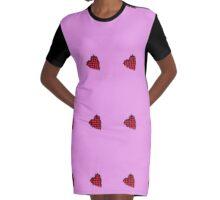 Heart Stitch  Graphic T-Shirt Dress