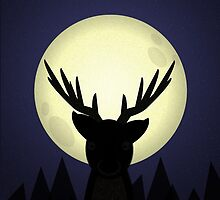 Peekaboo Deer in Its Natural Habitat by Steven Isaac Wood