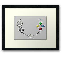 Dreamcast Buttons Framed Print