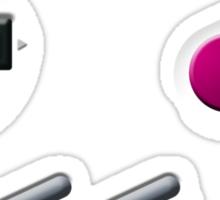 Gameboy Buttons Sticker