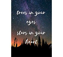 trees in your eyes Photographic Print