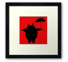 Totoro Loves Umbrella Framed Print