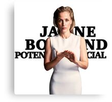 Gillian Anderson as Jane Bond Series Canvas Print