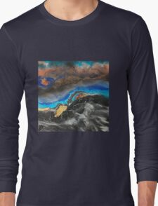 Storm Brewing spray-art painting on canvas Long Sleeve T-Shirt