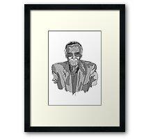 Stan Lee Linework Framed Print