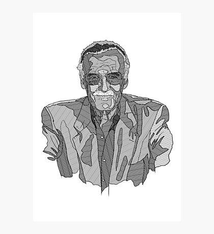 Stan Lee Linework Photographic Print