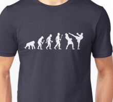 Evolution Of Man And Kickboxing Unisex T-Shirt
