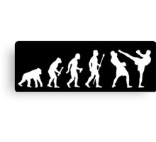 Evolution Of Man And Kickboxing Canvas Print