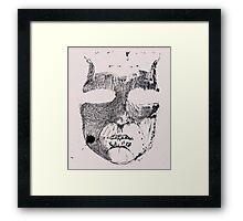 Face ink Sketch Framed Print