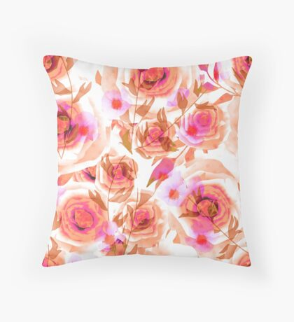Seamless design abstraction Rose.  Throw Pillow