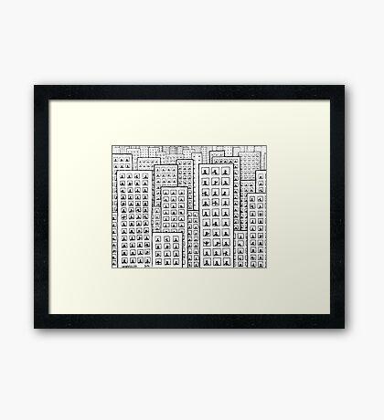 City life Framed Print