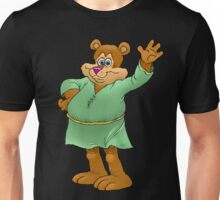Cartoon illustration of a waving bear. Unisex T-Shirt