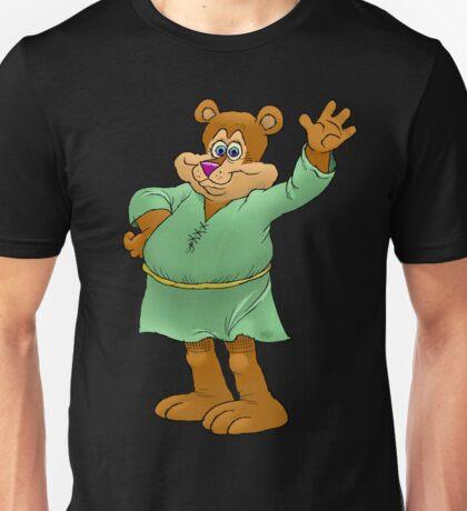 Cartoon illustration of a waving bear. Unisex T-Shirt