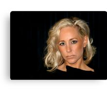Blond Woman Canvas Print