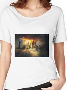 Sunset over new york city skyline Women's Relaxed Fit T-Shirt